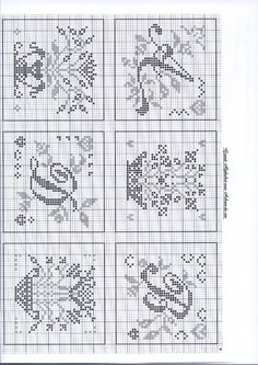 Cross Stitch Alphabet Patterns, Cross Stitch Samplers, Alphabet And Numbers, Filet Crochet, Blackwork, Needlework, Bullet Journal, Letters, Embroidery