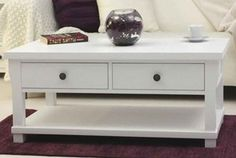 Country White Coffee Table white living room decor