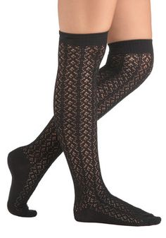 A Friend in Knee Socks in Coal, ModCloth.com      (Black dirndl socks?!  Yes please!)