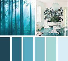 Azules del bosque