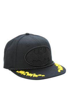 DC Comics Batman Mono Logo Snapback Hat