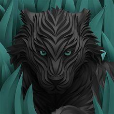 #black #puma #art #illustration by shkret