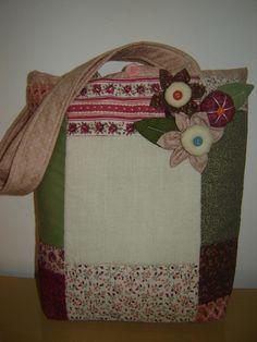 PATCHWORK - bolsa rosa chá para minha cunha Suellen