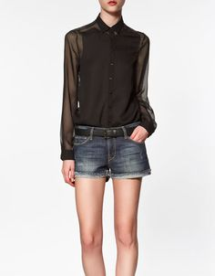 We all need our black chiffon shirt from where other than Zara.  http://fashionsmusthaves.wordpress.com/