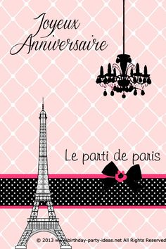 A Fancy Paris Themed Birthday Party Invitation Ideas