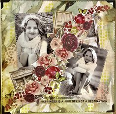 Scrapbooking layout by Kelly-ann Oosterbeek, created using the Gypsy Rose collection from Kaisercraft.