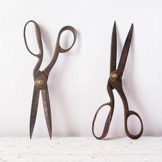 Antique Tailors Shears Scissors 19th Century Metal