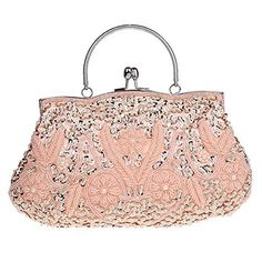 New Trending Clutch Bags: Albabara Satin Beaded Handmade Clutch Purse Evening Handbags,Pink. Albabara Satin Beaded Handmade Clutch Purse Evening Handbags,Pink  Special Offer: $24.99  277 Reviews Features: Name: Albabara Satin Beaded Handmade Clutch Purse Evening Handbags Size: 10.6 x 1.2 x 9.8 inches Weight: 14.4 ounces Material: High-quality Satin, Beading and Sequins Chain:...
