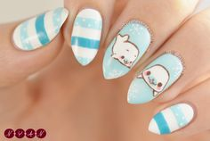 notyouraveragenails: Mamegoma I'm starting the year off with these cute, wintery Mamegoma nails!If you want to try this design out for yourself you can find my tutorial here! Instagram | Pinterest | Blogger | Bloglovin' | Facebook | Youtube