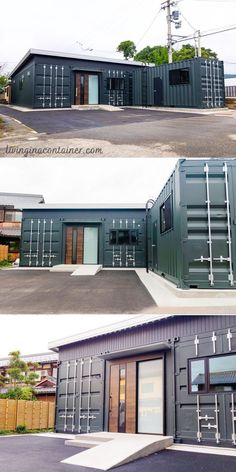 Tiny Container House, Building A Container Home, Container House Design, Small House Design, Shipping Container Buildings, Shipping Container Home Designs, Loft House, Garage Design, Future House