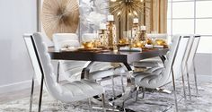 Stylish Home Decor & Chic Furniture At Affordable Prices | Z Gallerie Liked @ www.homescapes-sd.com #staging San Diego home stager (760) 224-5025 #contemporarydining
