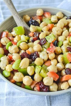 An easy and delicious recipe for Chickpea and Edamame Salad tossed in a simple dressing. Perfect as for lunch, a light meal or a side dish.