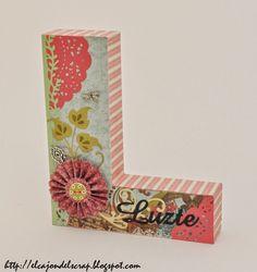Letra L decorada con scrapbooking / Decorated letter L