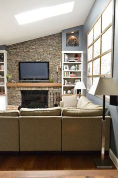 Stone fireplace wall From yhl house crashing