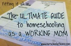 For those who wonder what my life is REALLY like, outside of the pretty Pinterest pins? This. The ultimate guide to homeschooling as a working mom - links, advice, reassurance and more, from me, Joan, who doesn't know it all but tries to help anyway.