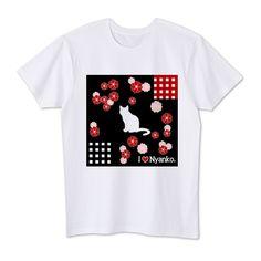 にゃんこ(和柄) 4.1oz Basic Tshirts (DALUC)