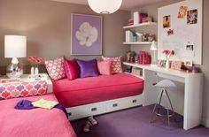 http://www.justsoakit.com/wp-content/uploads/2015/01/nice-interior-tennage-room-for-two-girl-with-pink-double-bedding-set-including-purple-rug-covering-floor-as-well-brown-painting-wall-and-lighting-lampion-in-ceiling-and-bookcase-on-the-wall-beside-study-table-870x573.jpg