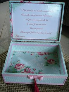 Tudo em Caixas - Caixas em MDF e Tecido (67)3211-7767: caixa em tecido