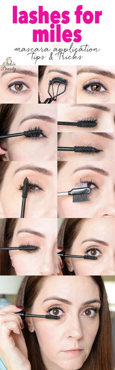 Genius!  How to layer 2 mascaras for great and not clumpy lashes.