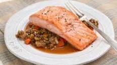 Salmon with Lentils Recipe : Ina Garten : Food Network