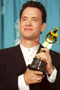 Winner: Tom Hanks was Best Actor in the 1995 Oscars for playing Forrest Gump, the hero who - inadvertently - shaped history Academy Award Winners, Oscar Winners, Academy Awards, Oscar Academy, Tom Hanks Forrest Gump, Forrest Gump 1994, Oscars, Tom Hanks News, Tom Hanks Movies