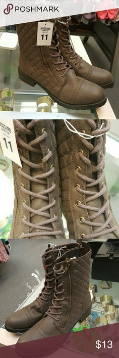 Womans shoes Dark gray shoes size 11 for womans Mossimo Supply Co Shoes Combat & Moto Boots