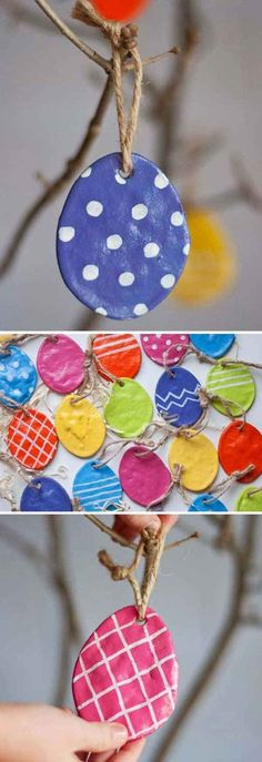 Salt Dough Easter Eggs I love the look of these salt dough eggs. Easter crafts for kids can m. Easter Crafts For Kids, Crafts To Do, Kids Diy, Tree Crafts, Easter Stuff, Easter Ideas For Kids, Easter Activities For Kids, Crafty Kids, Holiday Activities