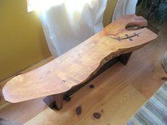 Cedar slab coffee table by jeffjoseph on Etsy, $600.00