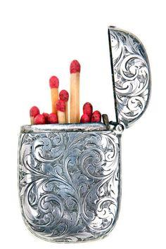 Unique Cigarette Cases Matchstick holder..