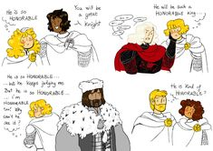 """foltosszalamandra: """" is bi and had an enormous crush on ned and any other knight he casually mentions as honorable"""" Blackfish, that's probably who you're forgetting. Game Of Thrones Comic, Game Of Thrones Houses, Game Of Thrones Art, George Rr Martin Books, Game Of Thrones Direwolves, Game Of Thones, Jaime Lannister, Film Books, High Fantasy"""