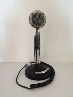 Astatic Silver Eagle Home CB HAM Radio Chrome Lolliop Microphone Working