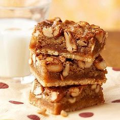 This bar tastes just like pecan pie, but an assortment of your favorite snack nuts takes the place of the pecans.