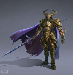 ArtStation - Knight in Chitin Armor, Joshua Carrenca