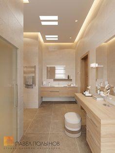 Фото: Душевая комната - Интерьер дома в современном стиле, коттеджный поселок «Небо», 272 кв.м.