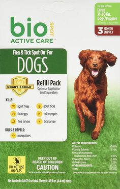 Bio Spot Active Care Flea and Tick Spot On for Large Dogs lbs.) 3 Month Refill *** Learn more by visiting the image link. (This is an affiliate link) Pet Dogs, Dogs And Puppies, Tick Control, Fluffy Dogs, Flea And Tick, Ticks, Large Dogs, Fleas, Pet Supplies