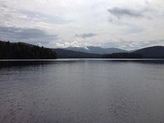 Lake Mirror ,  notre rituel voyage                Tour de bateau                                              Ici, moment magique , l'eco nous repond