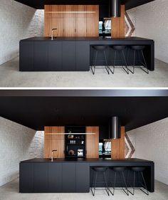 """15.7 ezer kedvelés, 101 hozzászólás – A Designer's Mind (@adesignersmind) Instagram-hozzászólása: """"Love this minimalist black kitchen!! Project by: A for Architecture @a_for_architecture Image via:…"""""""
