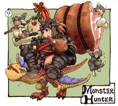 Monster Hunter fan art with Yian Kut Ku