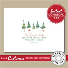 Editable christmas card address label templateenvelope addressing its as easy as click edit and print make your christmas cards stand out this year with this beautiful editable envelope template pronofoot35fo Gallery
