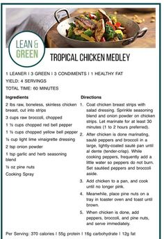 Lean and Green Medifast Recipes, Healthy Eating Recipes, Cooking Recipes, Lean And Green Meals, Macro Meals, Lean Meals, Greens Recipe, Chicken Recipes, Butter Recipe