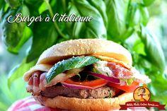 C'est un burger d'inspiration italienne que je vous invite à découvrir aujourd'hui. Garni de boeuf haché, tomate, oignon rouge, basilic, mozzarella, pancetta … Ce burger gou…