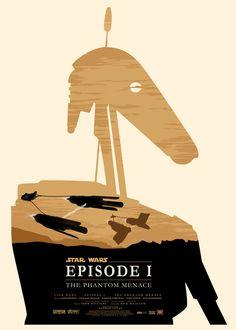 Star Wars en affiches minimalistes : La Menace Fantôme / Olly Moss