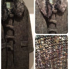Bow front coat by Bohemia with detachable #fauxfur #collar #wardrobestylist #getthelook #wintercoat #stockbridgeedinburgh #edfashion #uniquefashion #onlyinstockbridge #boutiqueshopping #edinburghstyle #edinburghbloggers