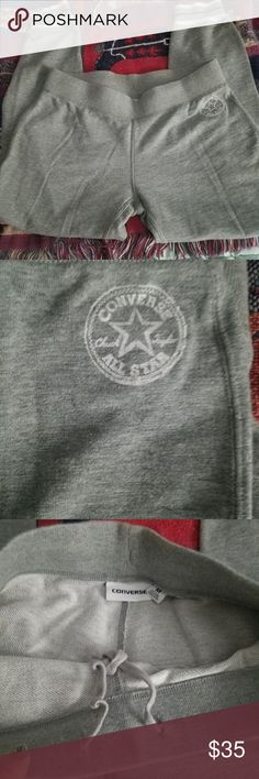 Converse joggers Converse joggers sz medium grey color. Only worn 1x in excellent condition. These run more like a small to me. Converse Pants Track Pants & Joggers