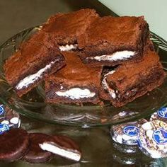 """Peppermint Patty Brownies   """"Excellent - followed the receipe exactly and the result was delicious! Made one batch with York peppermint patties, and one with Reese peanut butter cups(my husband doesn't like chocolate mint!) - both were yummy!"""" -Cindy"""