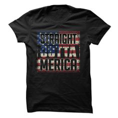 Straight Outta Merica T-Shirt by Merica Supply Co. Expand your summer wardrobe with the patriot-to-the-bone Straight Outta 'Merica shirt that's bound to have the bros at the gym noticing your swag and