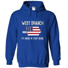 WEST BRANCH It's Where My Story Begins T-Shirts, Hoodies. VIEW DETAIL ==► https://www.sunfrog.com/No-Category/WEST-BRANCH--Its-where-my-story-begins-5690-RoyalBlue-19587088-Hoodie.html?id=41382