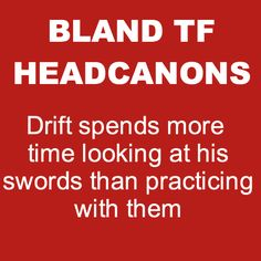 Bland Transformers Headcanons