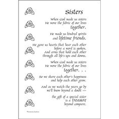 15 best Sister poems images on Pinterest | Sisters, Love my sister ...