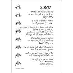 Big sister sorority poems